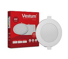 Круглый светодиодный врезной светильник Vestum 6W 4000K 220V 1-VS-5102