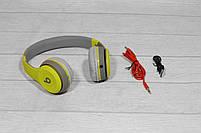 Наушники беспроводные Beats Studio TM-019 Bluetooth (by Dr. Dre) серо-зелёные, фото 2