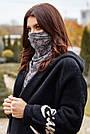 Шарф-маска двухсторонняя чёрная в горох, фото 4