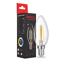 Светодиодная филаментная лампа Vestum С35 Е14 5Вт 220V 3000К 1-VS-2310