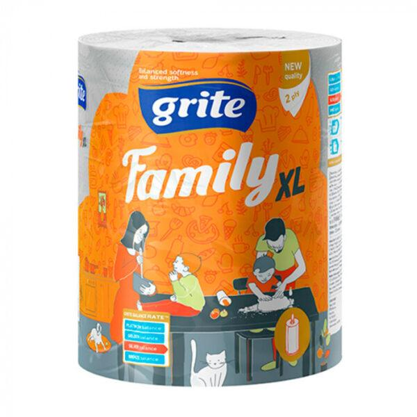 Полотенца бумажные Grite family xl 2-х слойные, 250 отрывов 1 шт.