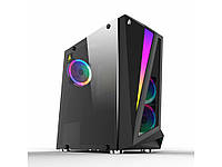 Корпус 1stPlayer R5-R1 Color LED Black, Window, 3*120мм LED, USB 3.0, ATX, без БП, фото 1