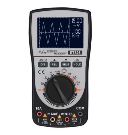 Цифровой мультиметр / осциллограф ET826  с автоматической подсветкой