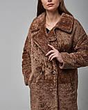 Дубленка женская из натуральной овчины (астраган) коричневая. Турция, фото 3