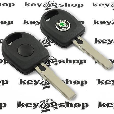 Корпус авто ключа под чип для SKODA (шкода) , лезвие HU66, фото 2