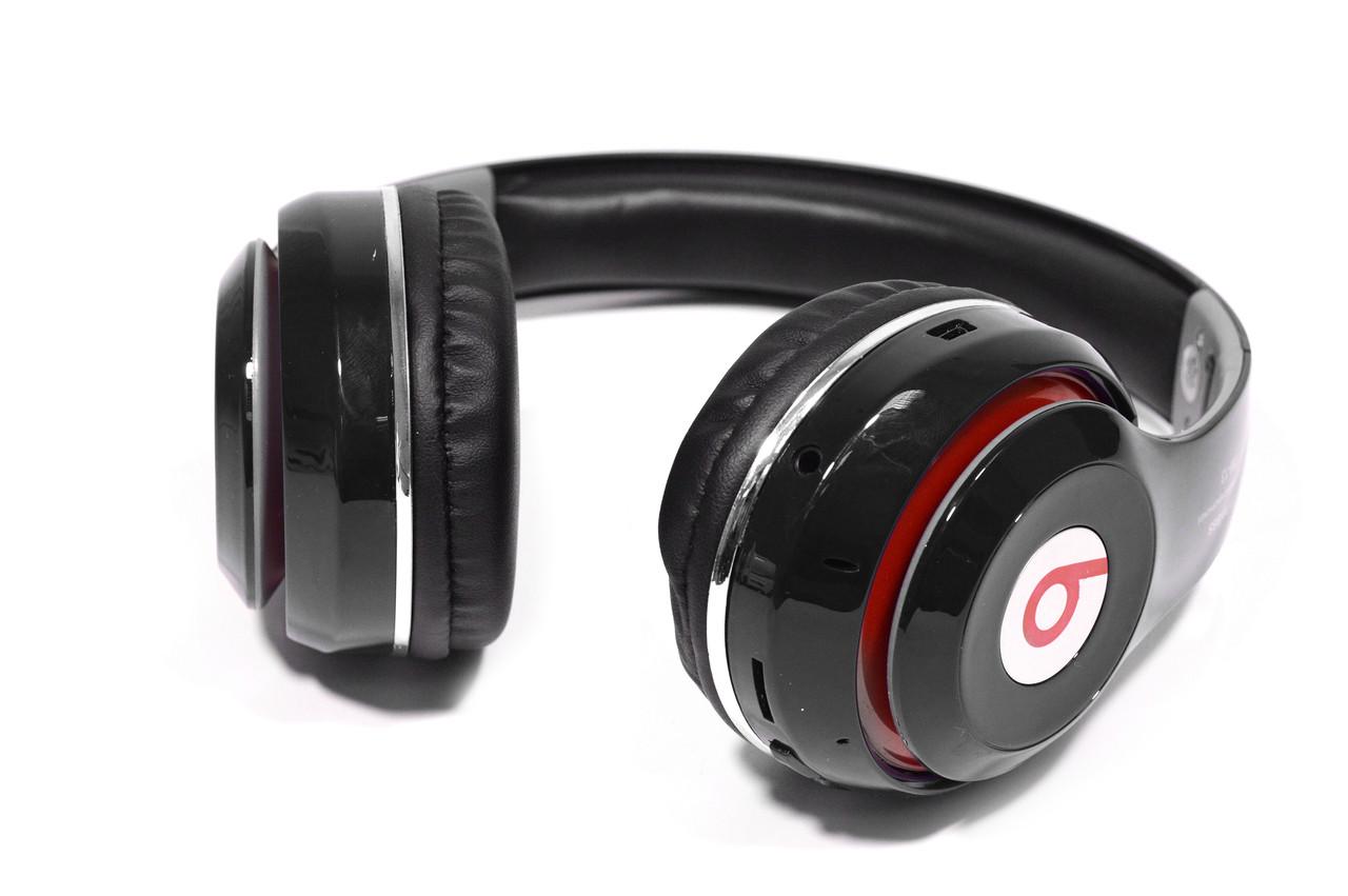 Наушники беспроводные Bluetooth Monster Beats TM-13 с mp3 + FM радио чёрные