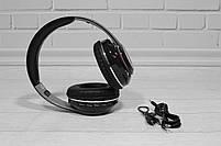 Наушники беспроводные Bluetooth Monster Beats TM-13 с mp3 + FM радио чёрные, фото 8