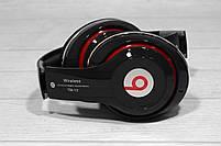 Наушники беспроводные Bluetooth Monster Beats TM-13 с mp3 + FM радио чёрные, фото 2