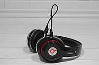 Наушники беспроводные Bluetooth Monster Beats TM-13 с mp3 + FM радио чёрные, фото 7