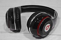 Наушники беспроводные Bluetooth Monster Beats TM-13 с mp3 + FM радио чёрные, фото 3