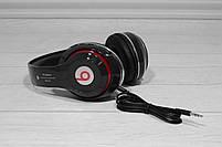 Наушники беспроводные Bluetooth Monster Beats TM-13 с mp3 + FM радио чёрные, фото 9