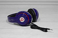 Наушники беспроводные Bluetooth Monster Beats TM-13 с mp3 + FM радио синие, фото 7