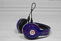 Наушники беспроводные Bluetooth Monster Beats TM-13 с mp3 + FM радио синие, фото 9