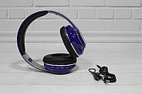 Наушники беспроводные Bluetooth Monster Beats TM-13 с mp3 + FM радио синие, фото 8