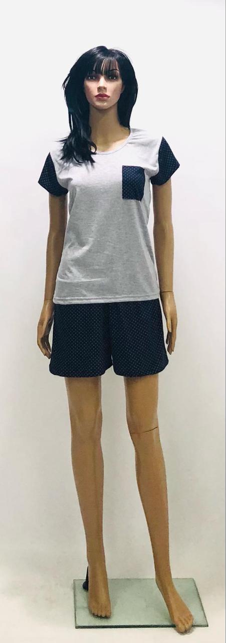 Трикотажная пижама футболка и шорты больших размеров