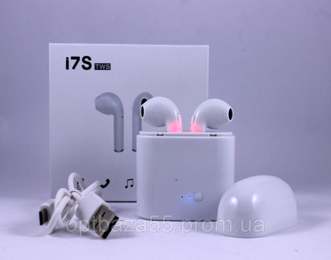Беспроводные bluetooth наушники i7S TWS, наушники AIRPODS, наушники iPhone TyT
