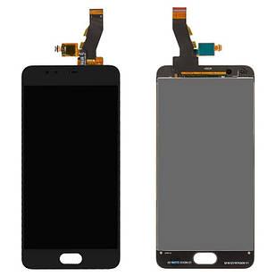 Дисплей для Meizu M5s, чорний, із сенсорним екраном, M612H