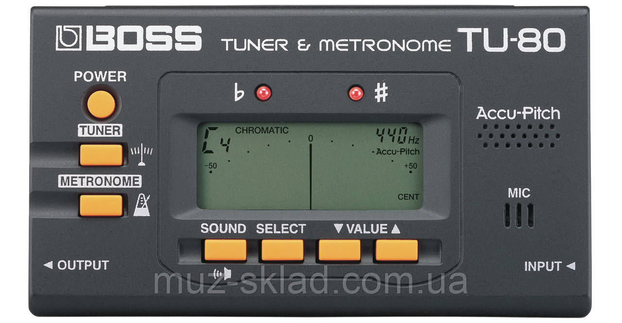 Boss TU80 гитарный тюнер c метрономом