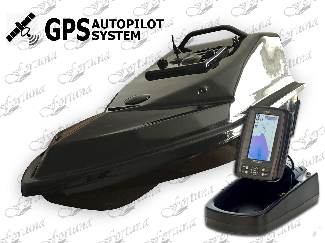 Фантом с дальнобойным пультом,  Эхолотом ToslonTF500 и GPS автопілотом (4+1)