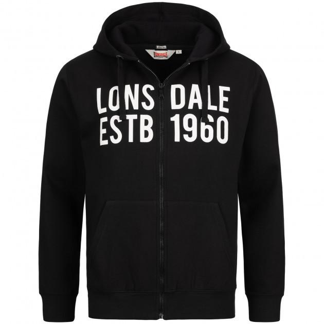 Мужская толстовка худи Lonsdale 116035 Black
