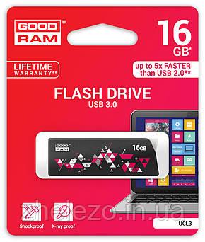 Флеш-накопичувач USB3.0 16GB GOODRAM UCL3 (Cl!ck) Black (UCL3-0160K0R11), фото 2