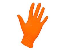 Перчатки нитриловые POLIX PRO&MED (оранжевые) (S)