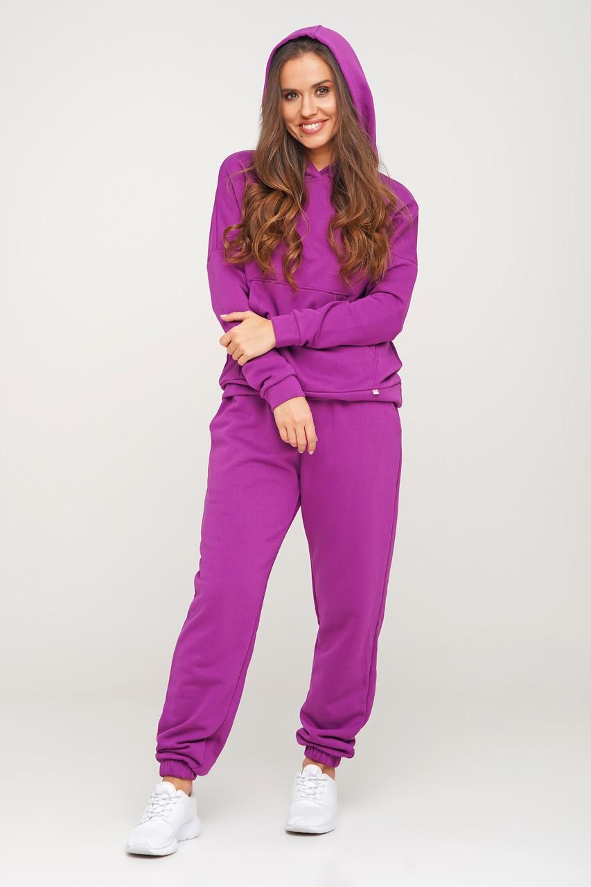 Пурпурный спортивный костюм кофта и штаны