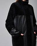 Дубленка женская двусторонняя из натуральной овчины (астраган) черная. Турция., фото 3