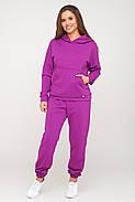 Пурпурный спортивный костюм кофта и штаны, фото 2