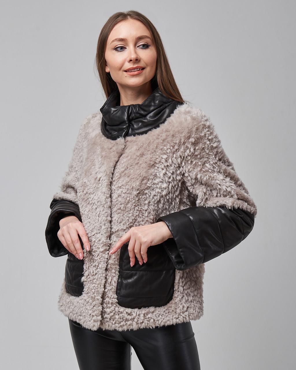 Дубленка женская натуральная из овчины (астраган). Турция