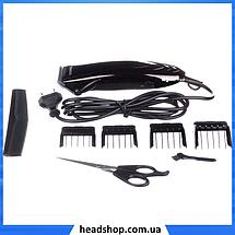 Машинка для стрижки волосся GEMEI GM-813 з насадками - Професійна бездротова машинка, тример, бритва, фото 3