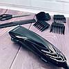 Машинка для стрижки волосся GEMEI GM-813 з насадками - Професійна бездротова машинка, тример, бритва, фото 5