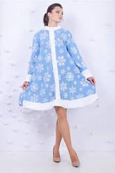 Карнавальный костюм СНЕГУРОЧКА для взрослых (рост 160-175см, р.42-48) взрослый новогодний костюм СНЕГУРОЧКИ