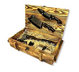 """Подарунковий набір """"Вижив"""" Gorillas BBQ в дерев'яній коробці"""