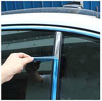 Молдинг лента для авто Хром ширина 25 мм Защитная Наклейка для кузова автомобиля на скотче автомобильном