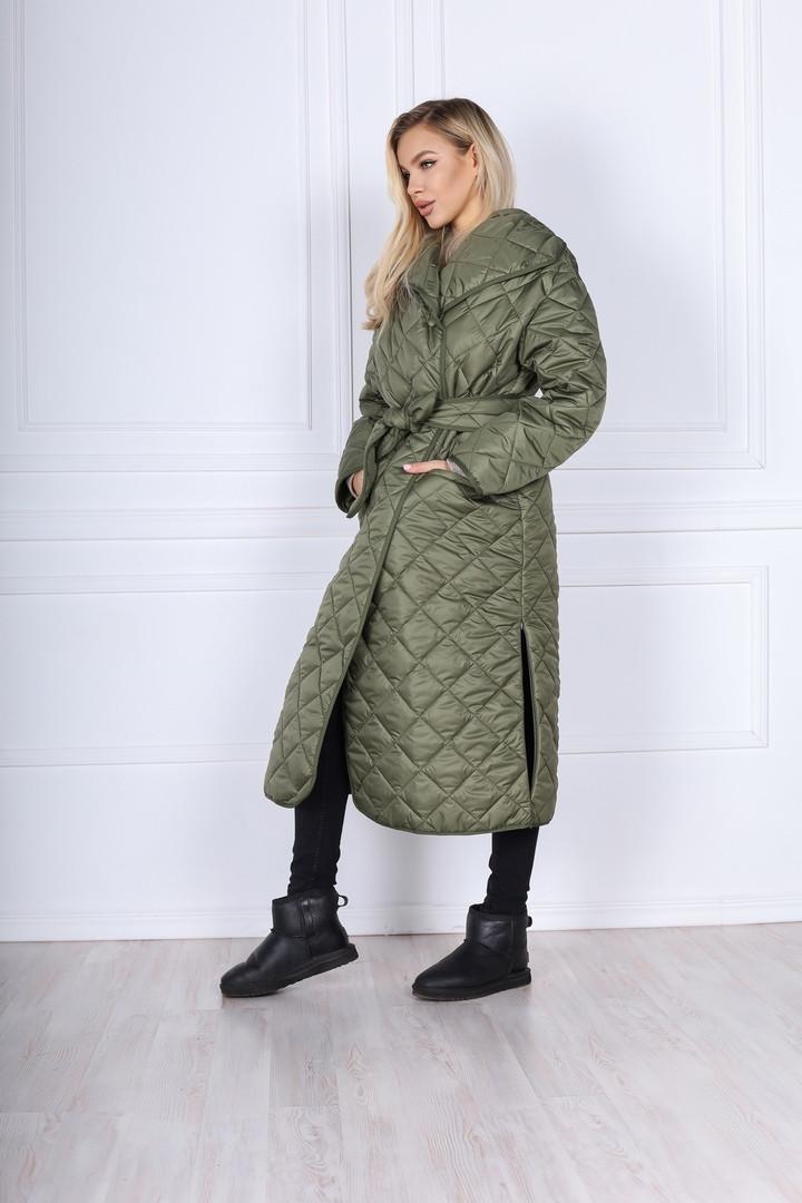 Женское пальто ромбик