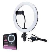 Селфи Лампа с Штативом 26 см Ring Fill Light 200 см 10 Вт 5500К - 3200К Кольцевой Свет LED Светодиодная, фото 3