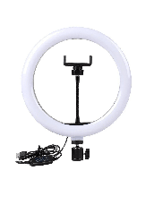 Светодиодная кольцевая LED лампа 26 см Ring Fill Light  кольцевая селфи лампа с штативом 135см, фото 2