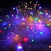 Светодиодная гирлянда капля росы 50 метров 500 led с пультом от сети (цветная), фото 2
