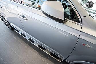 Подножки Audi Q7 4M пороги площадки (V1)