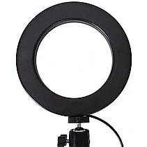 Свет кольцевой Selfie Ring Fill Light D=26 см Кольцевая лампа 5500K - 3200К 3 Режима освещения, фото 2