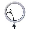 Свет кольцевой Selfie Ring Fill Light D=26 см Кольцевая лампа 5500K - 3200К 3 Режима освещения, фото 4