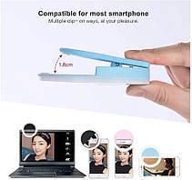 Кольцо для селфи на телефон Selfie Ring Light ЛЕД LED Лампа на Аккумуляторе RK-12 D=10 см, фото 3