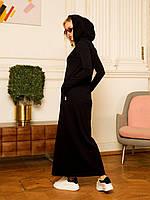 Женское теплое свободное платье с трехнитки (разные цвета)