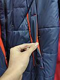 """Зимове довге пальто """"Леді"""", синє, фото 8"""