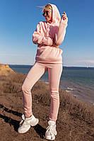 Спортивный женский костюм на флисе в трех цветах