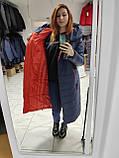 """Зимове довге пальто """"Леді"""", синє, фото 9"""
