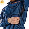 Костюм рабочий утепленный защитный AURUM 4S BLUE Куртка+Брюки на утепленной подкладке (спецодежда, флис), фото 7