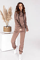 Спортивный женский утепленный костюм осень-зима 2020/2021