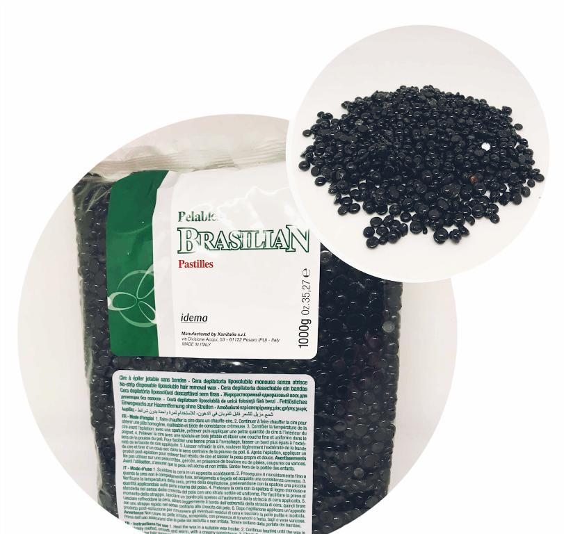 Xanitalia Воск в гранулах Black Чёрный  500гр. (ручная фасова)